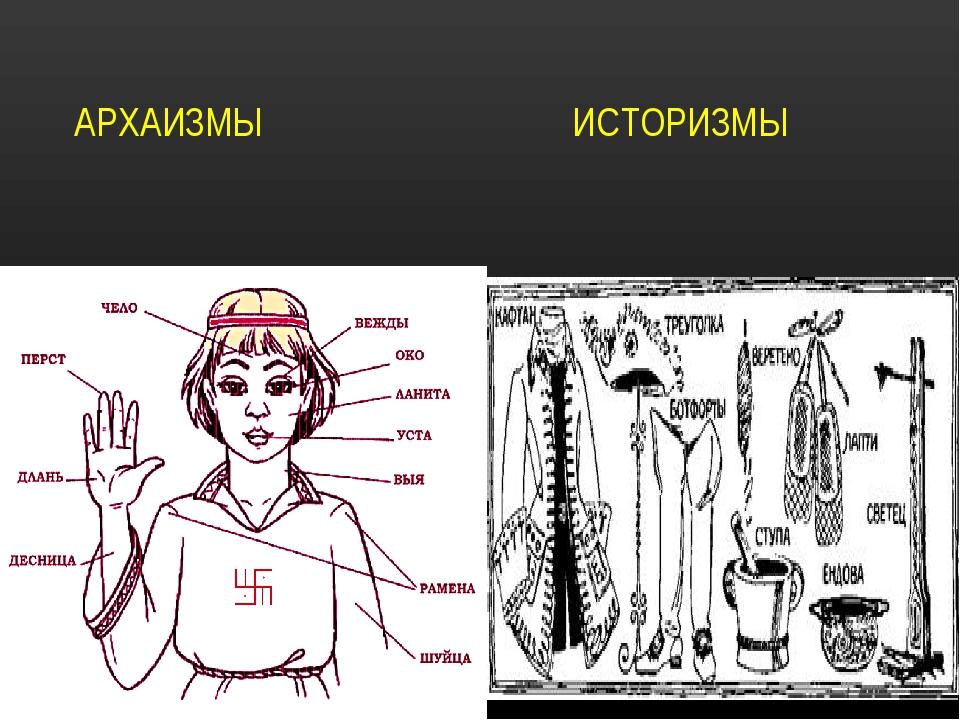 Что такое историзм. архаизмы и историзмы — в чем отличие между ними
