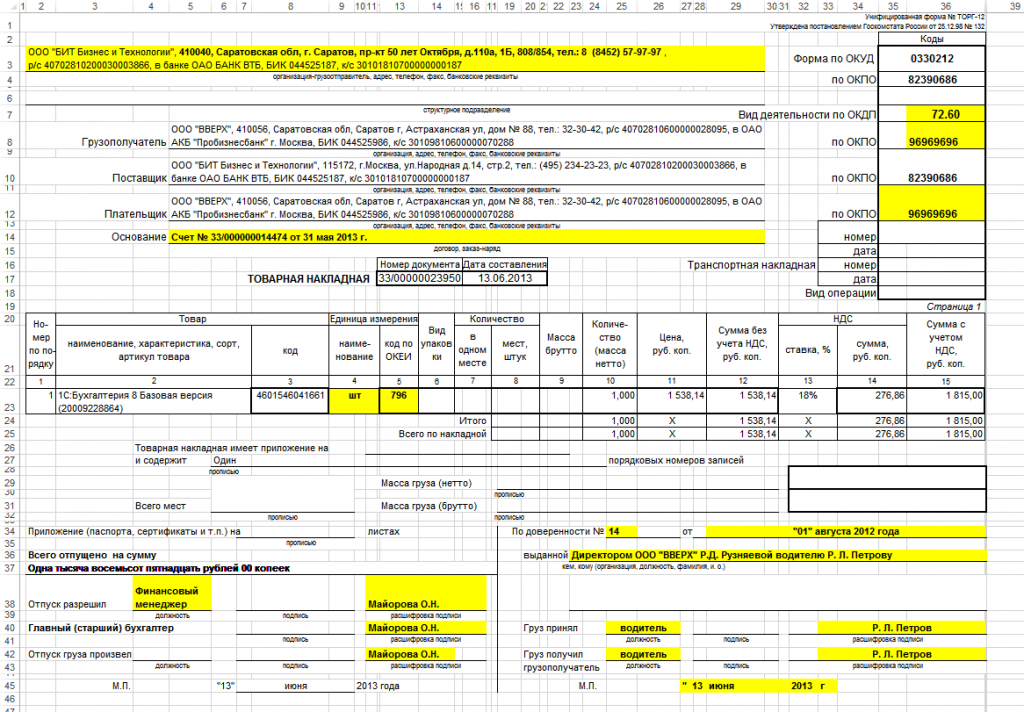Что такое счет, счет-фактура, накладная, как заполняются и подаются данные документы?
