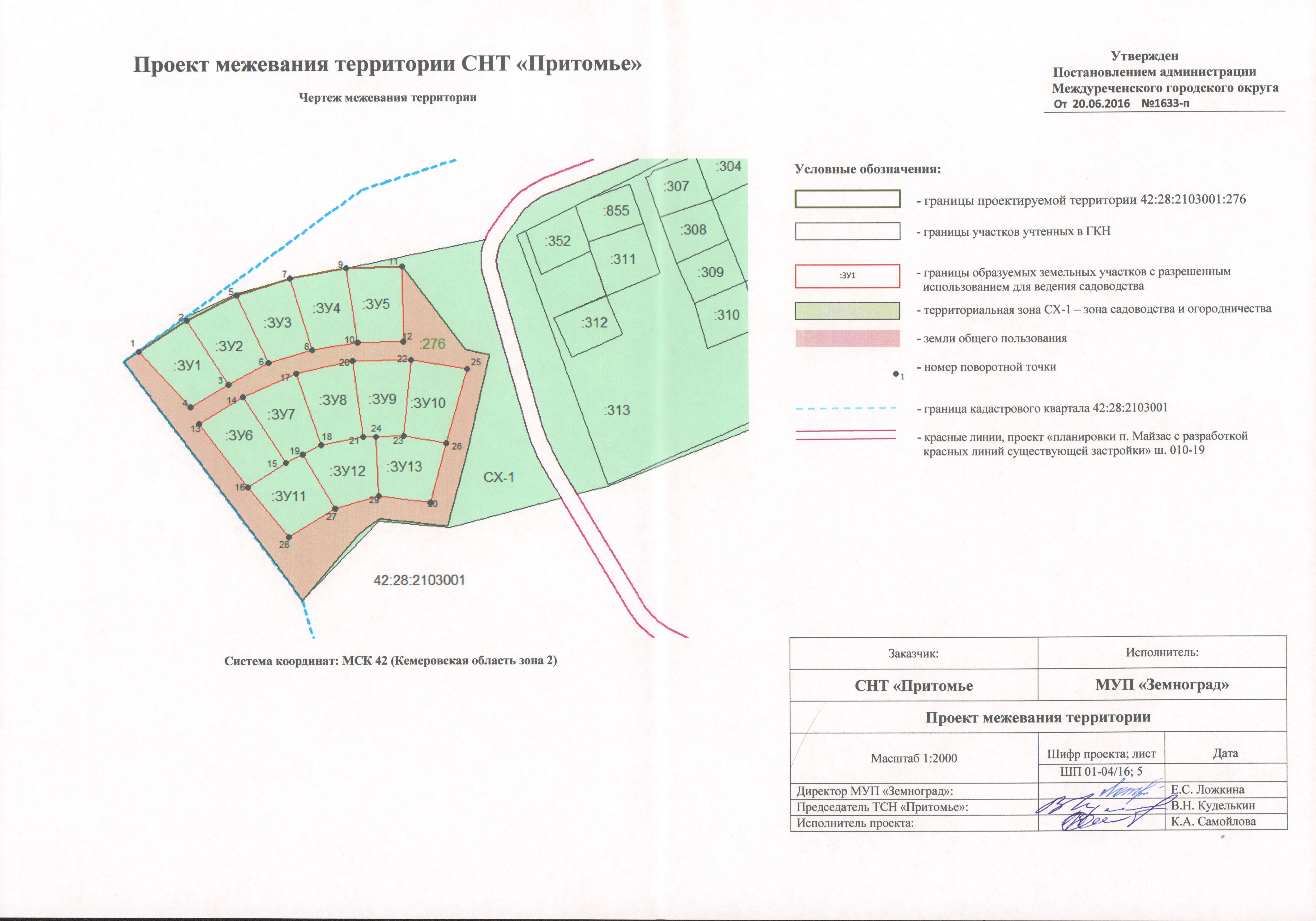 Особенности проекта межевания территории