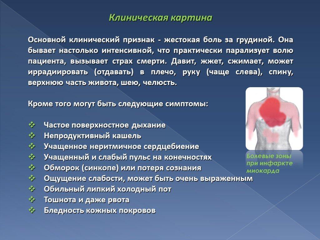 Симптомы, причины и лечение инфаркта