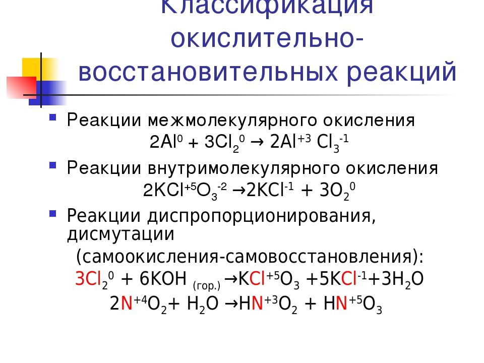 Окислительно-восстановительные реакции (овр): примеры