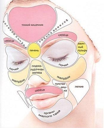 Значение прыщей на лице: за какие внутренние органы и болезни отвечают точки в т-зоне, на лбу, в нижней части подбородка, а также карта высыпаний | moninomama.ru