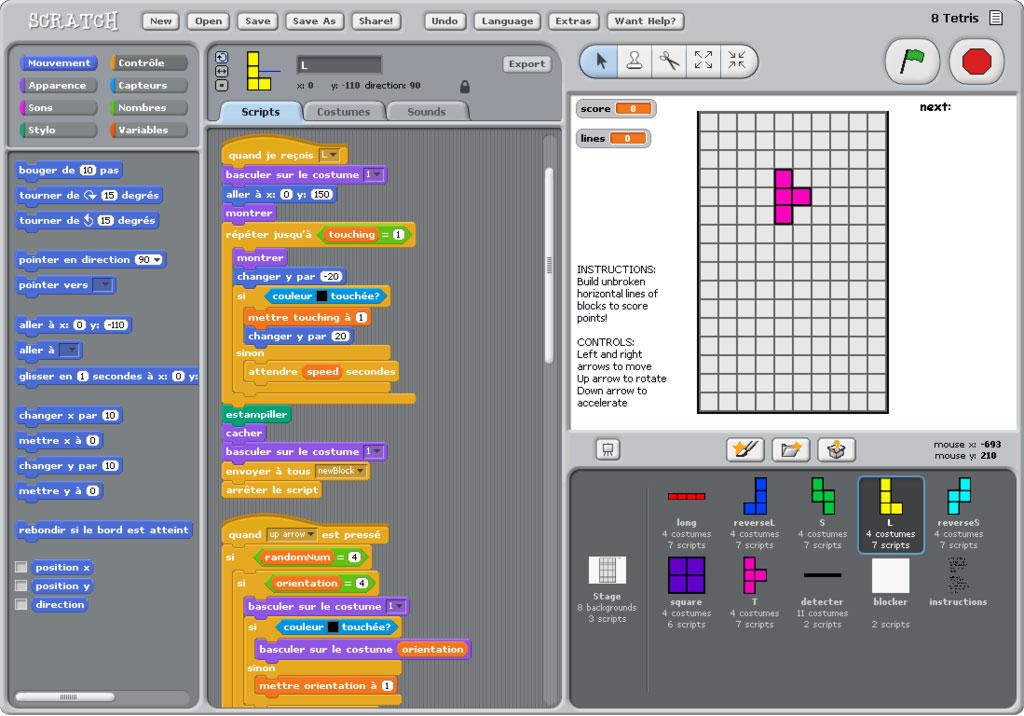 Scratch — язык программирования для детей