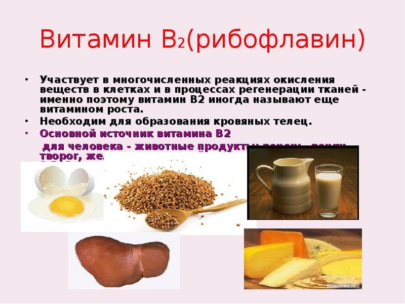Рибофлавин, витамин b2: где содержится, для чего нужен