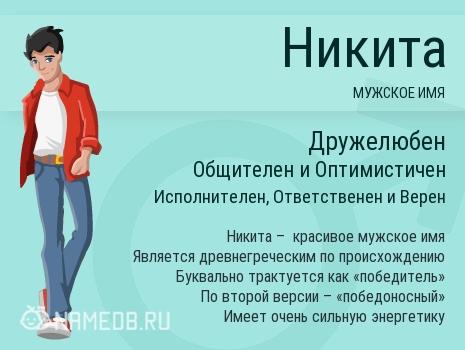 Значение имени никита: происхождение, характер, судьба и тайна имени никита