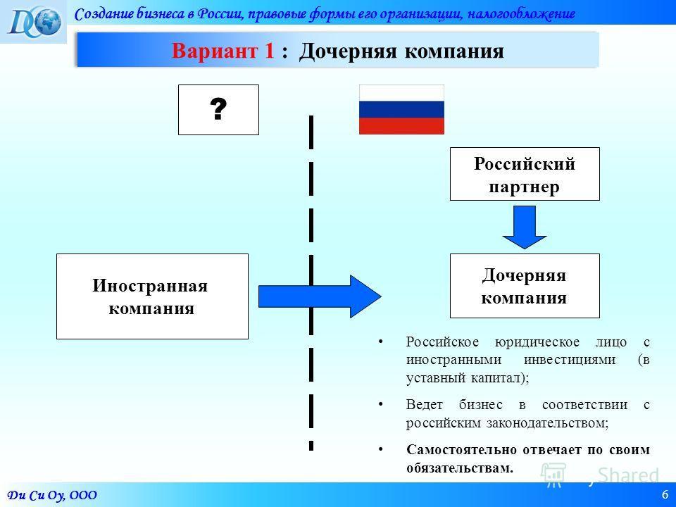 Дочерняя компания – это... управление дочерними компаниями :: businessman.ru