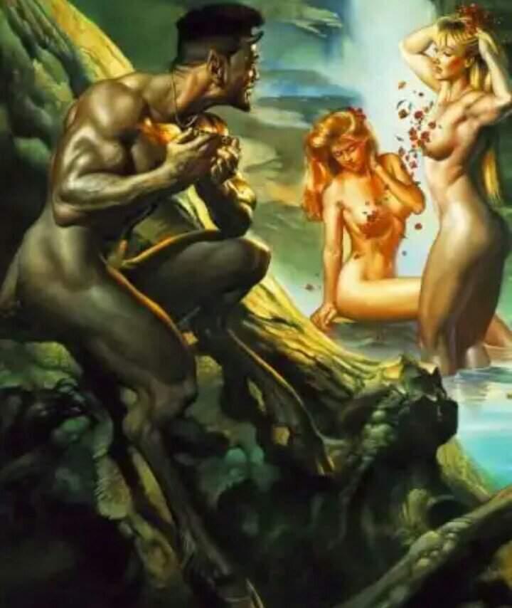 Нимфы — мифические красавицы крадущие лесных путников