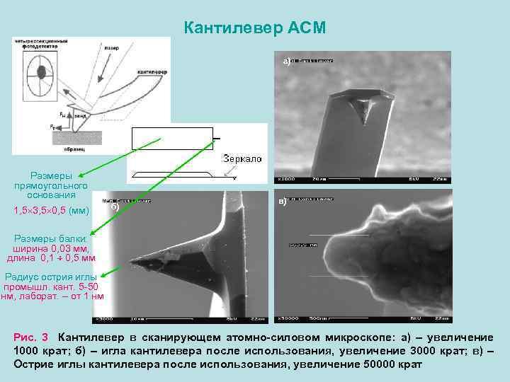 Кантилевер – составная часть атомно-силового микроскопа