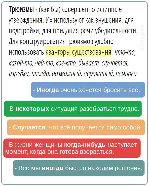 Трюизм — hypnosys.ru