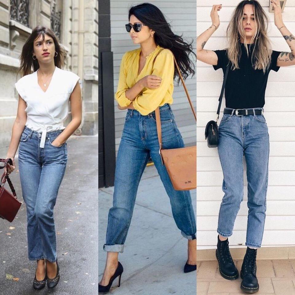 Как правильно должны сидеть джинсы мом   энциклопедия обуви