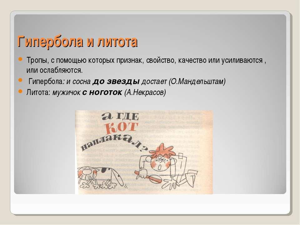 Литота в литературе: значение слова и примеры его использования