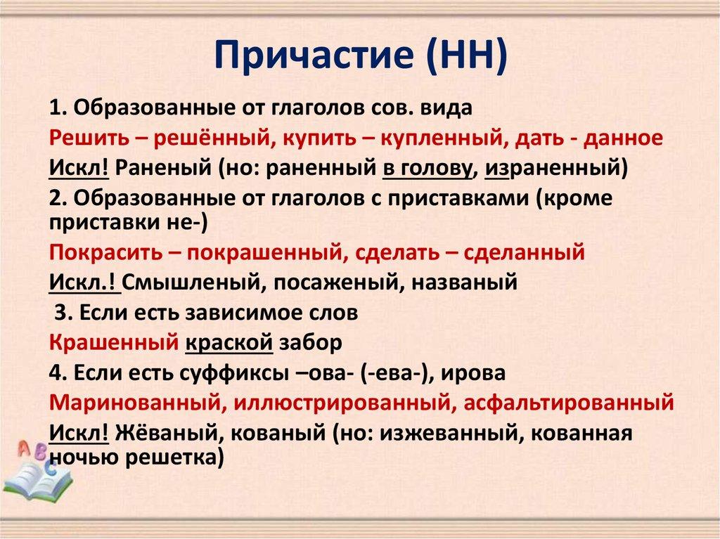 Что такое страдательное причастие в русском языке