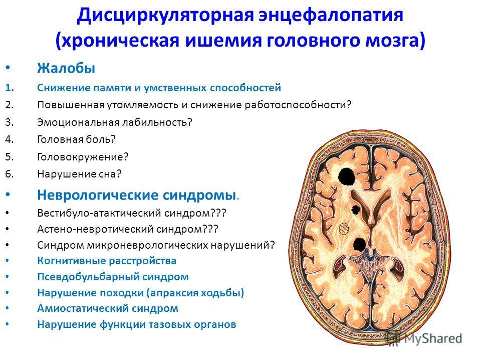 Дисциркуляторная энцефалопатия: что это такое и как лечить?
