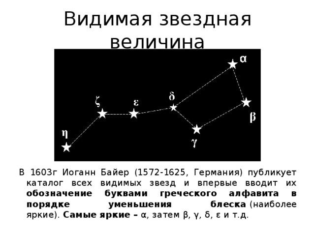 Звездная величина — числовая безразмерная | космос