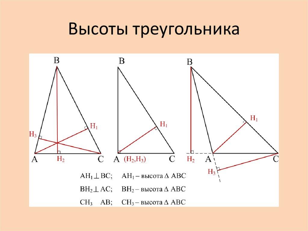 Треугольник. формулы и свойства треугольников.