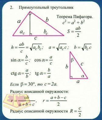 Серединный перпендикуляр – определение, свойства и формулы