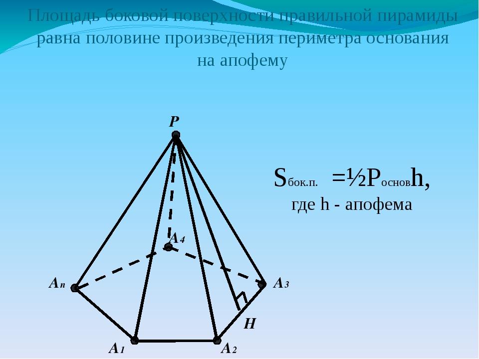 Все ли вы знаете о правильной пирамиде? апофема - это ...