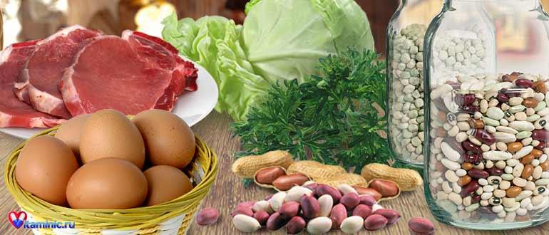Витамин в4 холин, что это такое, для чего нужен организму, продукты содержащие холин