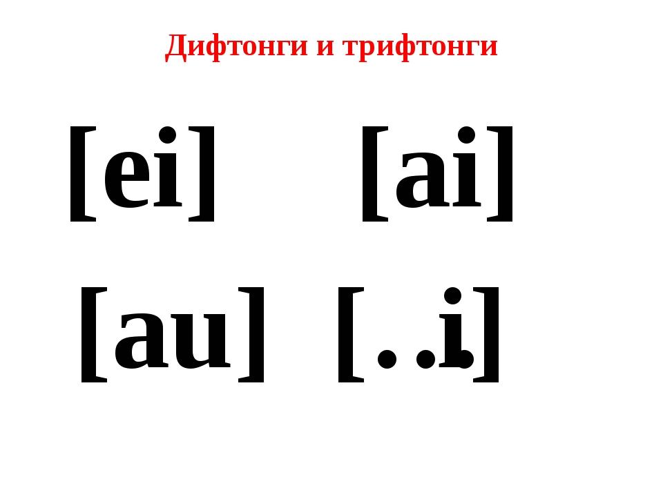Что такое дифтонги английского языка?