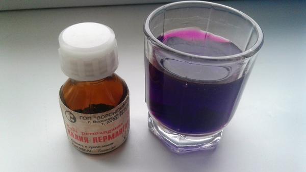 Перманганат калия - химические свойства, приготовление водного раствора и применение в медицине