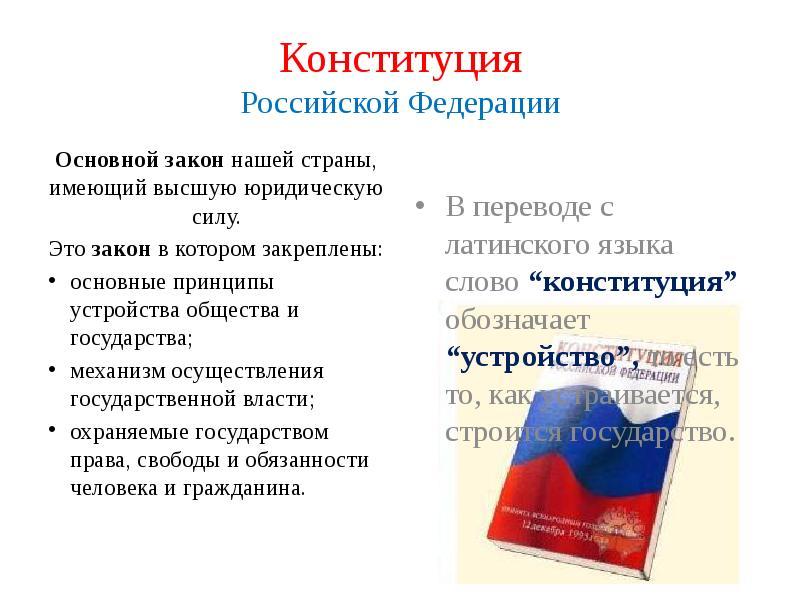 Конституция российской федерации . кратко. - учительpro