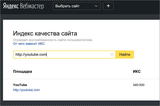 Яндекс икс: новый показатель качества сайтов