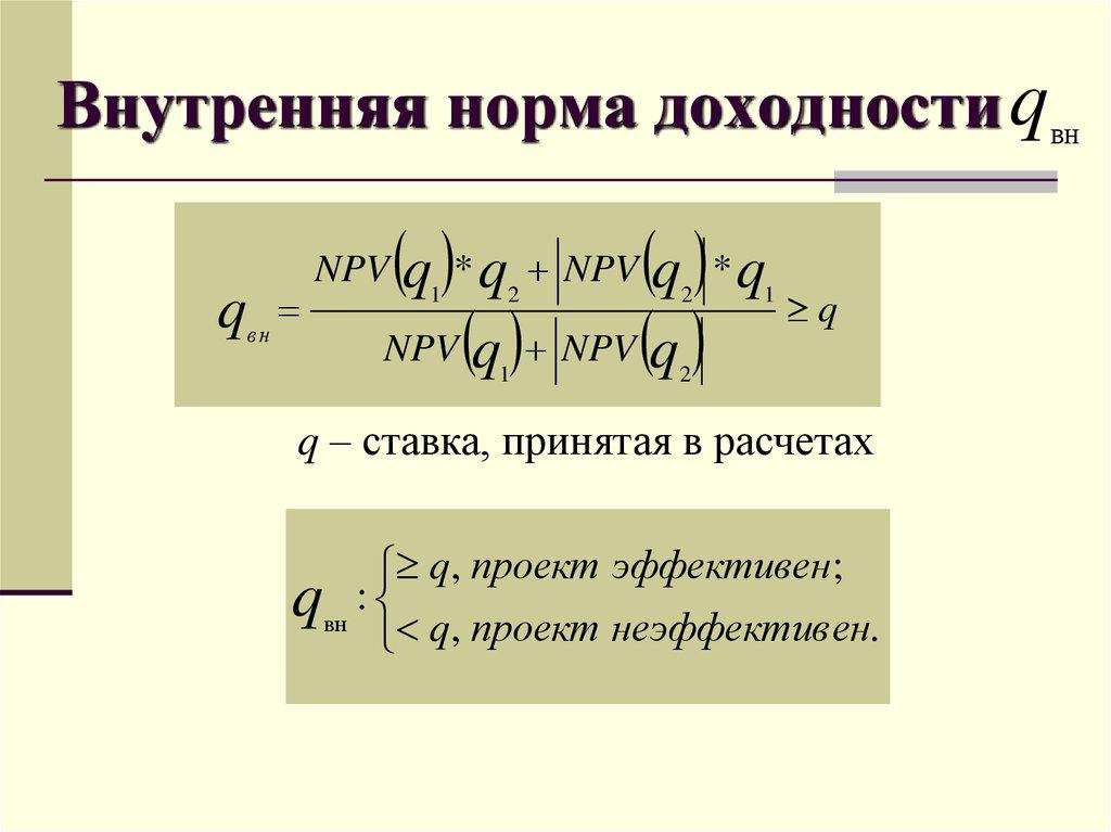 Внутренняя норма доходности (irr) и описание ее графического метода расчета