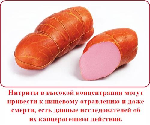 Нитрит натрия пищевой и технический - химическая формула, использование в производстве колбасы