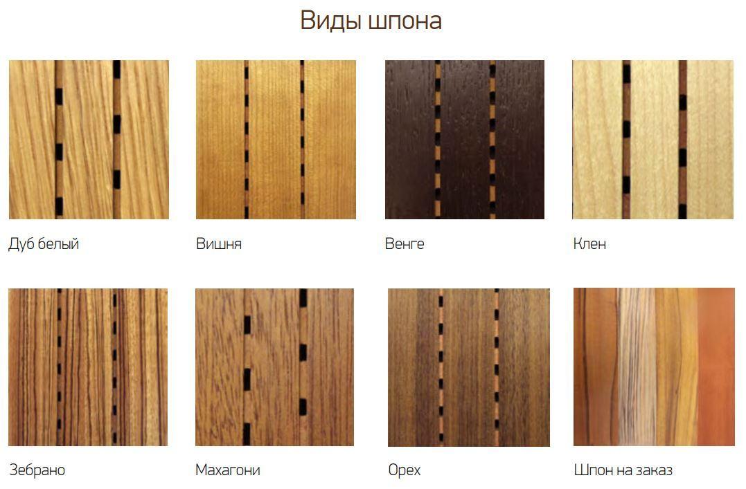 Древесный шпон: виды материала, используемые породы и технология производства