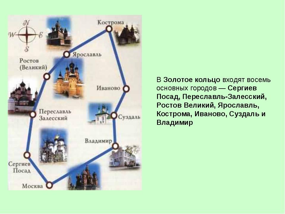 Золотое кольцо россии: информация для туристов