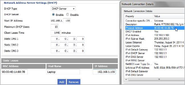 Как сделать постоянным ip-адрес для компьютера в настройках роутера