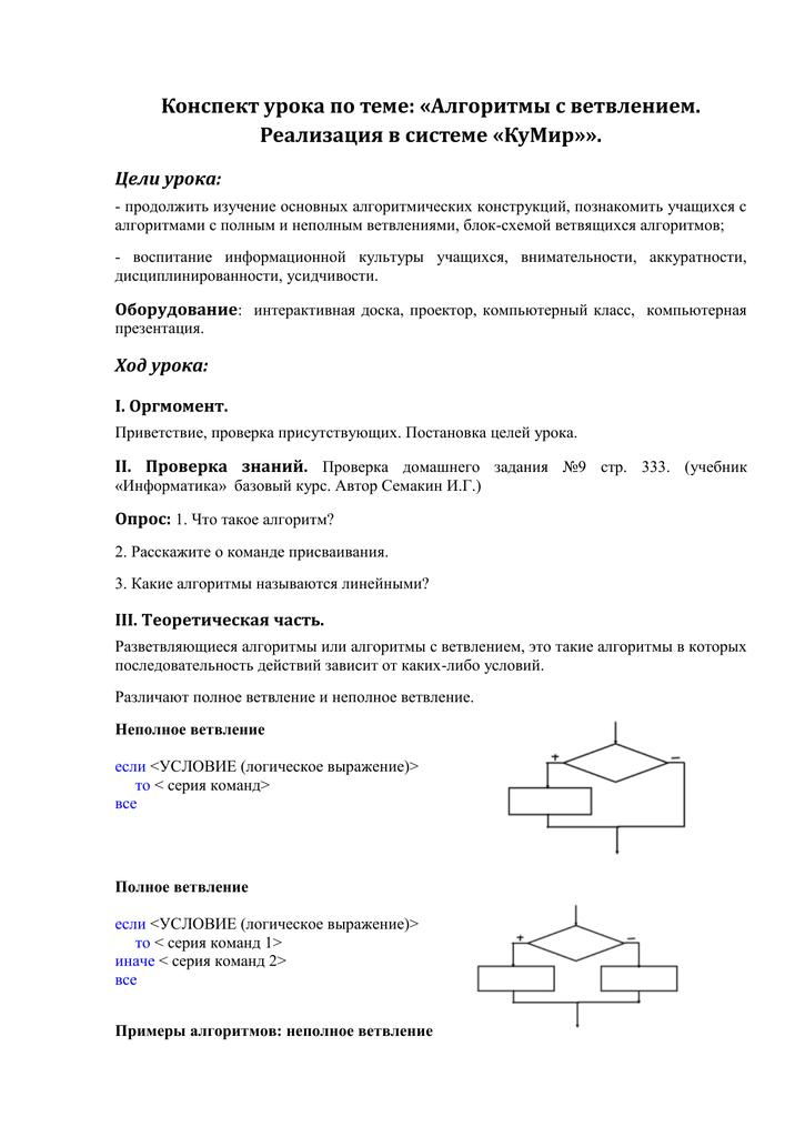 Составление алгоритмов и блок-схем | контент-платформа pandia.ru