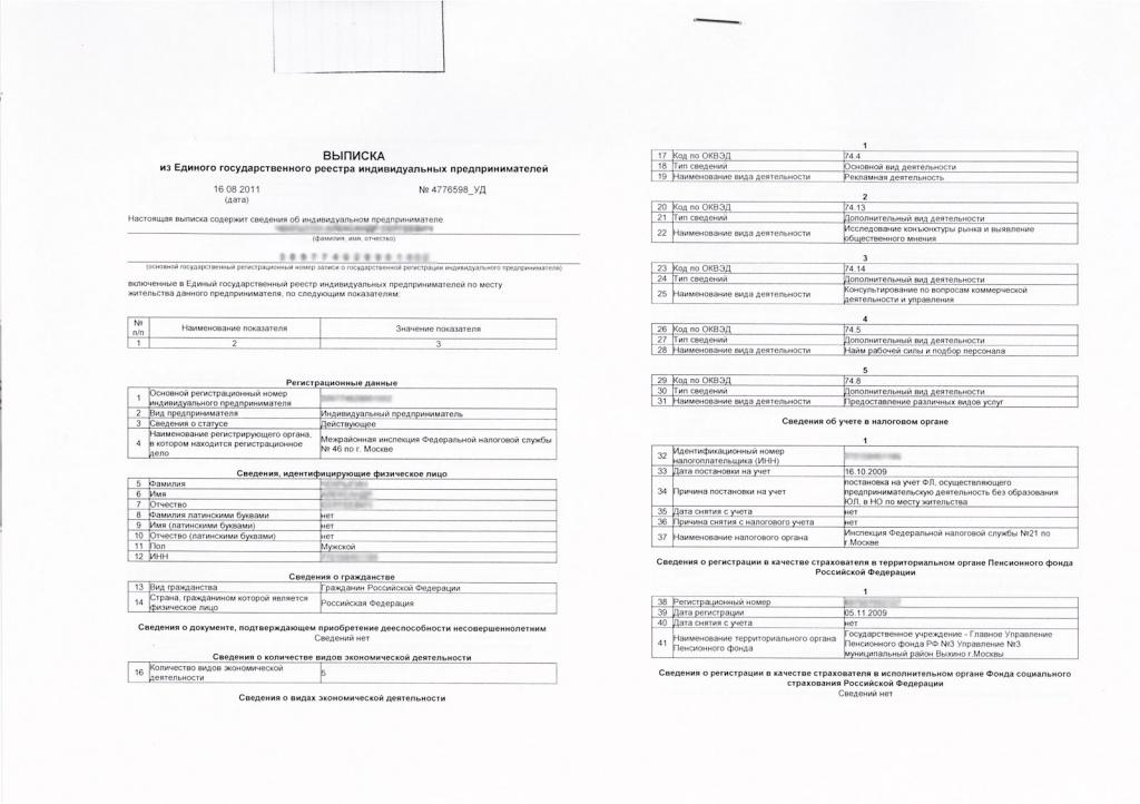 Лист записи егрюл и выписка из егрюл в чем разница