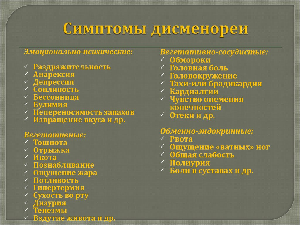 Дисменорея. причины, симптомы, признаки, диагностика и лечение патологии :: polismed.com