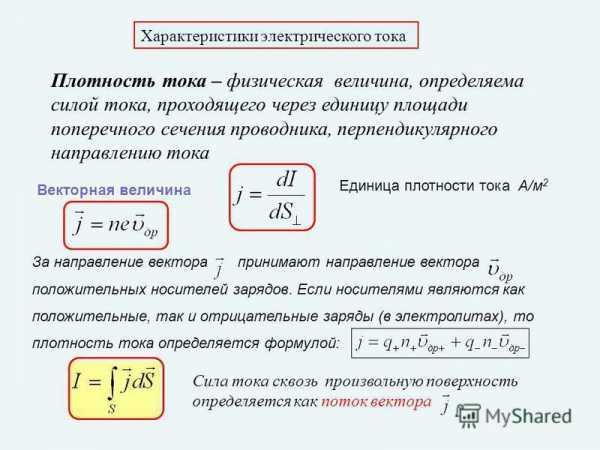 Что такое сила тока - единица измерения