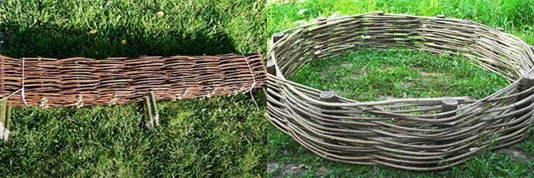 Плетеный забор (52 фото): австрийская декоративная плетенка, деревянный плетень из ивы, ограждения из досок, дерева и пвх