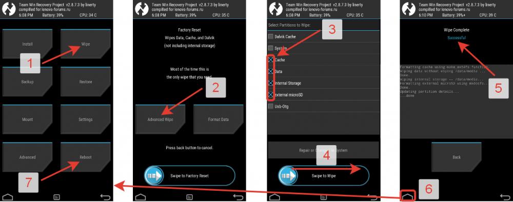 Wipe cache partition что это такое на android? (плюс перевод на русский). wipe на андроид