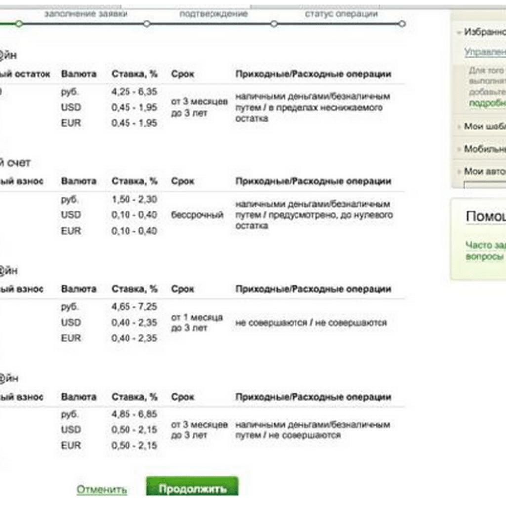 Вклад сберегательный счет сбербанк россии