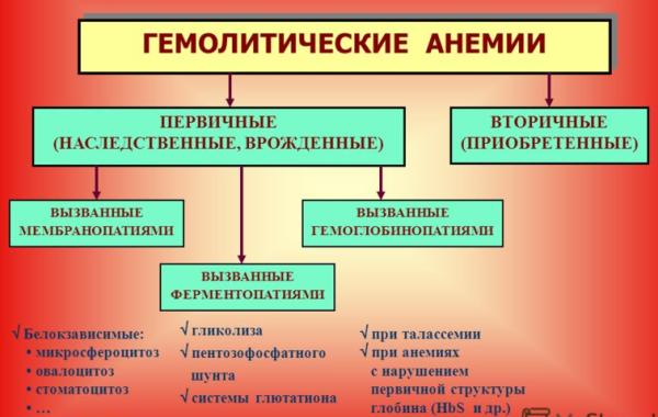 Гемолитическая анемия – виды у детей и взрослых, симптомы и причины, диагностика и лечение