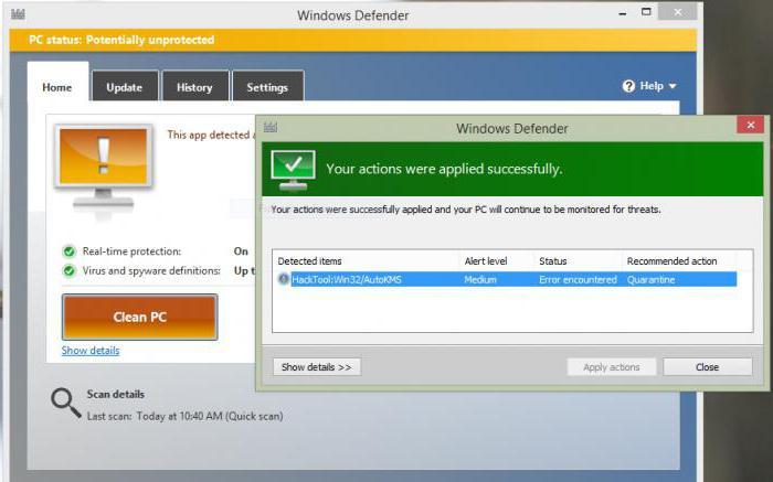 Как добавить активатор в исключения антивируса в windows 10 и 8.1