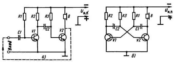 Мультивибратор. типовая схема и формула расчёта его колебаний.