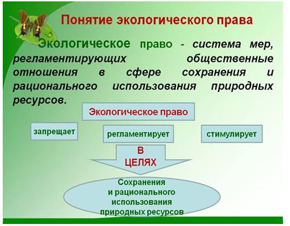 Экологическое право . конспект по обществознанию, кратко. - учительpro