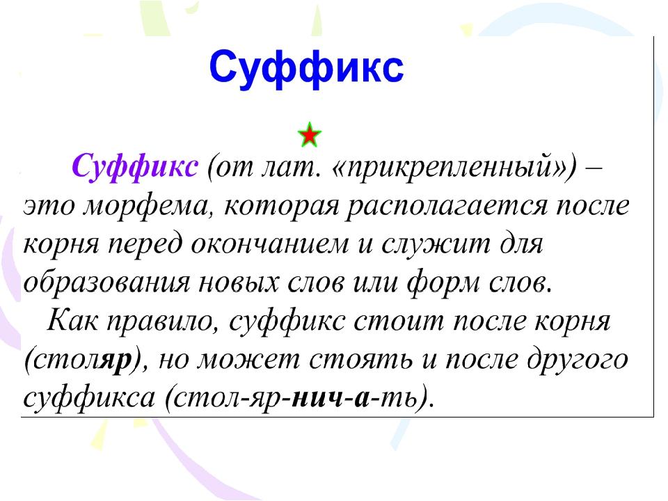 Суффикс -иц- в существительных. примеры слов с суффиксом -иц-