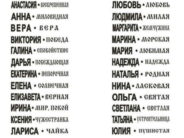 Значение имени марина