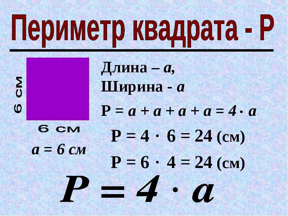 Периметр, площадь и объем