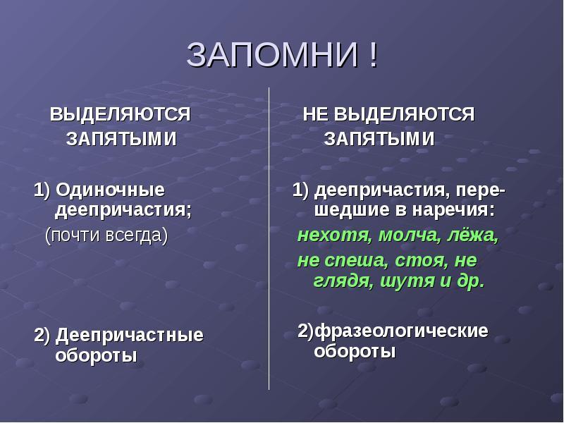 Что такое деепричастие: правописание, разбор :: syl.ru