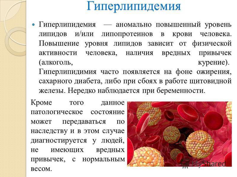 Симптомы болезни, профилактика и лечение гиперхолестеринемии, причины заболевания и его диагностика на eurolab