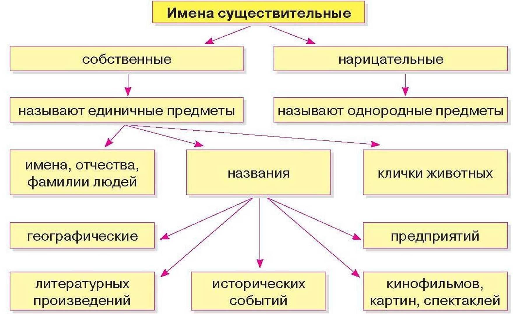 Собственные и нарицательные имена существительные: различия, правила написания и примеры, имя собственное, нарицательное правило с примерами.
