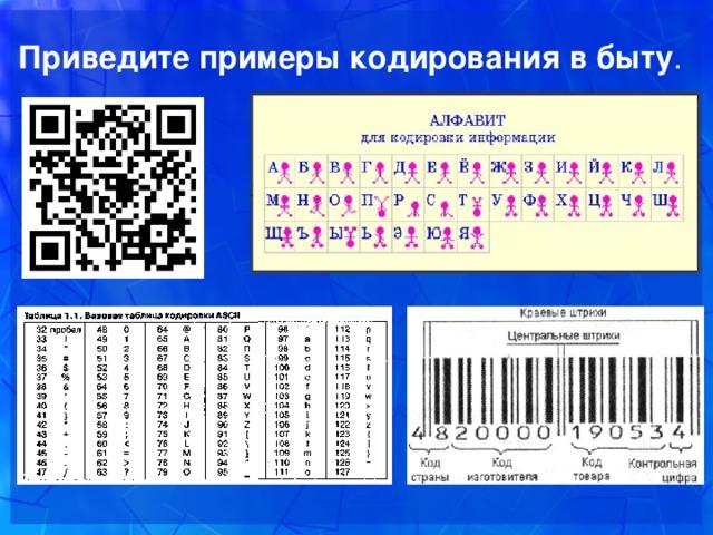 Кодирование информации в информатике
