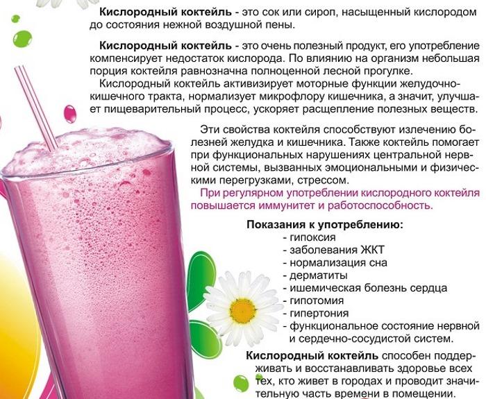 Кислородный коктейль в чем польза. кислородный коктейль: лечебные свойства, польза и вред | здоровье человека